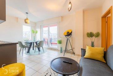 L\'agence immobilière Christine SIMON Sàrl vous propose ce très beau Studio entièrement meublé et très lumineux de 34,64 m2 au premier étage avec ascenseur d\'une Résidence à Esch-Alzette / LALLANGE à louer.<br><br>Il se compose comme suit :<br>Séjour avec cuisine équipée ouverte avec accès sur le balcon, une chambre à coucher et une salle de douche.  <br>Au premier sous-sol une cave privative et une buanderie commune.<br>Passeport énergétique E-E<br>Disponibilité de l\'appartement immédiate..<br>Conditions:<br>CONTRAT CDI OBLIGATOIRE SANS PÉRIODE D\'ESSAI<br>Loyer 1500 € + 180 € de charges, dans les charges il y a également le vidange de la poubelle deux fois par mois et l\'internet.<br>Caution 3 mois de loyer plus charges (5040 €).<br>A charge du locataire: <br>honoraires d\'agence: 1 mois de loyer plus 17 % de TVA (1755 €).<br>Idéal aussi pour une location courte durée.<br>Si vous êtes intéressés, envoyez un mail avec vos coordonnés et votre disponibilité pour une visite à info@christinesimon.lu ou appelez le 26 53 00 30 1<br>