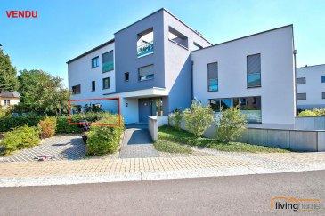 ***VENDU***Magnifique appartement d\'une surface habitable de 77,00 m², situé au rez-de-chaussée d\'une résidence construite en 2014. Le bien dispose également d\'une belle terrasse (19 m²) encadrée par de généreux espaces verts. <br>L\'appartement dispose également au sous-sol d\'un emplacement intérieur pour 2 voitures, ainsi qu\'une cave privative. <br><br>DESCRIPTION:<br>Rez-de-chaussée: (surface habitable 77,00 m²)<br>- hall d\'entrée (13,50 m²) <br>- WC séparé (1,60 m²)<br>- cuisine équipée ouverte (13,50 m²)<br>- séjour (21,45 m²) avec accès à la terrasse (18,91 m²) et au jardin commun<br>- 1 chambre à coucher (14,20 m²) <br>- 1 salle de bain et de douche (7,50 m²) <br>- terrasse <br><br>Sous-sol: <br>- 1 emplacement intérieur pour 2 voitures<br>- 1 cave <br><br>Les communs:<br>- buanderie<br>- local poubelle<br>- local vélo<br>- jardin<br><br>SITUATION GEOGRAPHIQUE:<br>A toute proximité de la ville, le bien est situé dans le village pittoresque de Tuntange (Commune Helperknapp). Les habitants de la résidence profitent d\'un arrêt de bus à 50 m (lignes 265 et 267).<br><br>DISTANCES:<br>Luxembourg-Ville à 19 km<br>Redange sur Attert à 13 km<br><br>CONTACTS:<br>- Bureau                00352  27 80 83 59<br>- Pascal POOS      00352  621 36 20 26