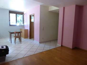 T2/3 avec jardin et garage à Meisenthal. Appartement en RDC composé d\'une cuisine entièrement équipée, espace repas, salon, chambre, salle de bain avec baignoire, douche et wc, WC individuel, bureau, garage, espace vert privatif. Au calme. L\'appartement sera repeint en blanc <br/>Contact Nord  Sud Immobilier<br/>Rohrbach les Bitche, Bitche ou Sarreguemines<br/>03 72 64 01 02<br/>www.nordsud-immobilier.fr