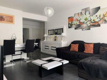 REAL G IMMO vous propose en exclusivité ce charmant appartement à Esch-sur-Alzette. Entièrement rénové en 2014 avec une surface de +/- 88m² situé au 2ième étage avec ascenseur. À proximité de tous commerces, transports publiques et écoles.  Ce bien se compose comme suit: - Hall d\'entrée - Living/ Salle à manger - Cuisine équipée - 3 chambres à coucher - Salle de douche - Débarras - Cave  Pour plus de renseignements ou une visite (visites également possibles le samedi sur rdv), veuillez contacter le 28.66.39.1.  Les prix s\'entendent frais d\'agence de 3 % TVA 17 % inclus.  Les visites ont repris, et nous sommes heureux de pouvoir à nouveau vous revoir ! Notre équipe sera équipée de gants et de masques afin de vous recevoir ou vous faire visiter nos biens en toute sécurité.  Ref agence :73326
