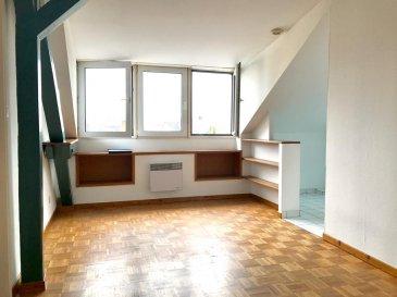 Avenue de Colmar - Proche TRAM Au 4e étage avec ascenseur, beau 2 pièces, très lumineux, vue dégagée, comprenant : Séjour, cuisine ouverte équipée kitchenette, chambre à coucher, salle de bains avec wc. ++DIAGNOSTIC EN COURS++