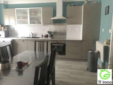 MAISON 3 - VELAINE EN HAYE. En exclusivité à Velaine en Haye, venez visiter cette charmante maison sur 2 niveaux comprenant au rez de chaussée : une entrée, cuisine équipée ouverte sur le séjour et garage. L\'étage quant à lui est composé d\'une mezzanine, 2 chambres de 14 et 15 m² et une très grande salle de bains.Besoin d'espace supplémentaire ?  Vous aurez la possibilité d\'aménager les combles ( environ 40 m²) , l\'escalier est déjà existant. De nombreux travaux ont été réalisés ces 10 dernières années ( toiture, fenêtres, isolation, volets ...... ), chauffage gaz de ville. Aucun travaux à prévoir. Prix : 161 000 euros frais d\'agence inclus à la charge du vendeur.- barème honoraires : www.tfimmo.com /nos-honoraires.php - Contact : 0675414705 - tfimmo54@gmail.com