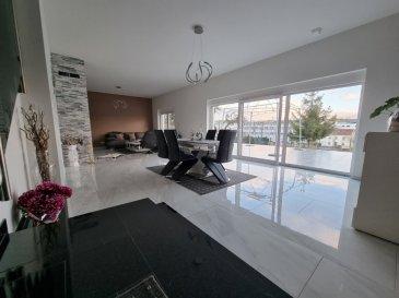 Immo Color a le plaisir de vous proposer à la vente, cette magnifique maison de 352m², sur un terrain de 4ares62ca, située à Wecker dans une rue calme.  Elle se compose d'une belle entrée avec vue sur le living, salle à manger et terrasse, une cuisine équipée, un débarras et WC séparée ainsi que le garage, se trouvent au rez-de chaussée; à l'étage, vous trouverez une magnifique suite parentale avec dressing et salle de bain, ainsi que 3 autres chambres plus une buanderie, le deuxième étage se compose d'une grande chambre à coucher une salle de bain, et un appartement entièrement équipée d'un living, salle à manger et cuisine équipée, ainsi qu'une chambre et un mezzanine ou deuxième chambre ou bureau. Idéale pour deux familles.  Ce bien d'exeption est absolument à visiter. Pour plus d'information ou visite, n'hésitez pas à nous contacter. www.immocolor.lu tél: 691 080 103 ou 691 860 584 contact@immocolor.lu