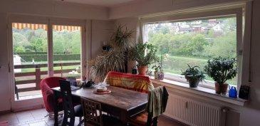 Joli appartement en vente dans une petite résidence au bord de la Sûre. Avec balcon et jardin commun. Cave et emplacement