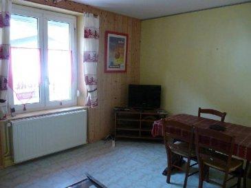 LA BRESSE 5KM DES PISTES    IDEAL LOCATIF , appartement F2 meublé , 1er étage , cuisine équipée , salon-séjour ,1 chambre , salle d\'eau , wc séparés , loggia vitrée et parking privatif .