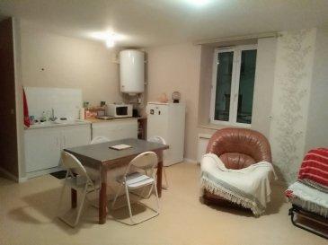 Au calme, appartement en rdc, comprenant entrée, pièce à vivre avec coin cuisine, une chambre et salle de bains.