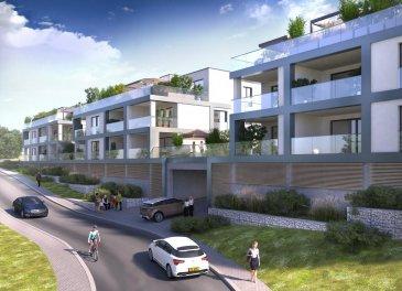 RESIDENCE 57 dans le nouveau lotissement 'CITE EECHELTER' à Steinfort  Nouveau projet implanté sur un vaste et magnifique terrain de 581 ares situé à Steinfort (entre la rue de Kleinbettingen et la rue de Hagen).  11 Résidences comprenant chacune un maximum de 8 unités de logements d'une surface de 71 m2 à 106 m2.  Tous les appartements d'un design architectural moderne sont dotés de finitions de haut standing ainsi que de magnifiques terrasses et balcons.   Classe énergétique: A-A-A (chauffage à gaz, installation solaire, ventilation mécanique VMC, triple vitrage, etc.)  Livraison des appartements prévu pour début 2020.  Prix affichés: 3% TVAC (sous condition d'acceptation du dossier par l'enregistrement) _____________________________________  RESIDENCE 57 in der neuen Wohnsiedlung 'CITE EECHELTER' in Steinfort  Neues Wohnprojekt auf einem grossen, wunderschönen Grundstück mit 581 Ar in Steinfort (zwisachen rue de Kleinbettingen und rue de Hagen).  11 Wohnanlagen mit jeweils maximal 8 Wohneinheitem und einer Grösse zwischen 71 m2 und 106 m2. Alle Wohnungen in modernem Architekturdesign verfügen über eine hochwertige Ausstattung sowie über eine herrliche Terrasse oder einen Balkon.  Energieklasse: A-A-A (Gasheizung, Solarinstallation, mechanische Ventilation VMC, Dreifachverglasung, etc.)  Fertigstellung vorgesehen für Anfang 2020.  angegebene Preise inkl. 3% Mwst. (bei Anerkennung durch das Enregistrement) Ref agence :6396