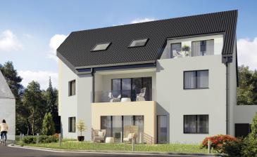 Dans un petit immeuble de 3 unités en future état d'achèvement (début 2021), cet appartement de ± 130m² dont ± 120m² habitables se trouve sur les hauteurs de Hobscheid à deux pas de la forêt de Kreuzerbuch.  Il est situé au 1er étage avec ascenseur privatif.  Il se compose comme suit :  Au 1er étage :  d'une entrée de ± 7m² ; d'un séjour de ± 38m² avec ses baies vitrées vers une terrasse de ± 12m² orientée sud-ouest ; d'une cuisine de 10m² ; de 3 chambres de ± 17, 16 et 12m² ; de 2 salles de douche de ± 6.50m² chaque ; d'un couloir de ± 4m².  Au rez-de-chaussée :   d'un garage (box) fermé de 17m²  Au sous-sol :  d'une cave de ± 25m² ; d'une buanderie commune  Généralités :   •Passeport énergétique – « A-B » •A la campagne et à l'orée de la forêt •Proximité des transports en commun, crèche et écoles, restaurants  Prix : € 775.000, - (TVA à 3% compris) - après acceptation de l'administration de l'enregistrement et des domaines. 1 Garage (box fermé) : € 28.000   Contact : Jimmy de Brabant   +352 661 167 494   ou    jimmy@vanmaurits.lu
