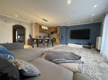 Nous vous proposons ce bel appartement d\'une superficie habitable de +/- 87.36 m² en vente à Rodange.<br><br>Celui-ci se situe au 1er étage d\'une résidence construite en 2005.<br><br>Il se compose comme suit:<br><br>* Hall d\'entrée, <br>* Cuisine équipée ouverte sur living (avec possibilité de la séparer),<br>* Séjour,<br>* 2 chambres à coucher (21 m² et 14 m²),<br>* Bureau,<br>* Salle de bain,<br>* Cave et buanderie, <br>* Balcon,<br><br>Un garage box fermé ainsi que deux emplacements extérieurs complètent ce bien.<br><br>Pour plus de renseignements ou une visite des lieux (également possibles le samedi sur rdv), veuillez nous contacter au 28.66.39.1.<br><br>Les prix s\'entendent frais d\'agence de 3 % TVA 17 % inclus.