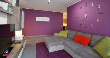 VIP Promotions s.a. vous propose en exclusivité ce superbe appartement rénové d'une surface utile de 68,50m², sis au premier étage d'une résidence de 10 unités.  Découvrez notre offre en visite virtuelle:  https://360.immopro.lu/uploads/5db70147269674.54368121/  Le bien se compose comme suit:  - Hall d'entrée - 2 chambres à coucher - Salle de douche avec branchements pour machine à laver - Cuisine équipée et ouverte sur le living donnant accès au balcon d'environ 10m²  Au sous-sol on retrouve:  - 1 emplacement de parking souterrain - Cave privative - Buanderie commune - 4 caves supplémentaires communes  Divers:  - Multitude de parkings à proximité - Immense jardin de 10 ares en commun à l'arrière de la résidence - Disponibilité: 01/09/2021 - Possibilité d'acquérir certains meubles  Rénovations effectuées (2018):   - Revêtement de sol dans tout l'appartement - Salle de douche - Remplacement du lave-vaisselle - Façade  Proche de toutes commodités, des grands axes routiers et à proximité de toutes les infrastructures nécessaires.  Pour plus de renseignements ou pour une prise de rendez-vous, veuillez nous contacter au +352 691 901 219 ou bien par e-mail sur info@vippromotions.lu  Suivez-nous sur Facebook pour recevoir nos informations en continu.