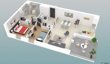 Les Résidences d\'Annerey.  VISITEZ L\'APPARTEMENT ET LA RESIDENCE EN 3D SUR SIMPLE DEMANDE PAR MAIL.  Ennery :  Appartement F3 de 70m² au 1er étage, composé d\'une entrée, une cuisine ouverte sur séjour, 2 chambres, 1 WC séparé, une SDB et une terrasse de 13.5m².  Prestations haut de gamme :  Ascenseur, volets roulants électriques, vidéophone, WC suspendu avec lave-mains, SDB équipée (douche, meuble vasque, miroir, réglette d\'éclairage, sèche-serviette), porte blindée, plancher chauffant gaz, compteurs individualisés, RT 2012, ...  Environnement calme et proche de toutes commodités, vue dégagée sur la nature.  Immeuble soumis au statut de la copropriété, la quote part annuelle de charges s\'élève à 720 euro. Prix: 189.000euro.