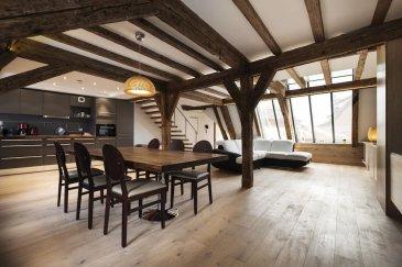 Triplex Hyper-centre !.  A saisir ! Magnifique Triplex de 100 m2 en centre ville de Strasbourg ! L'appartement se compose d'une grande pièce à vivre avec cuisine amériquaine, de deux chambre et d'une salle de bain. Nombreux rangements. Logement loué meublé !Eau chaude et chauffage individuel au gaz.  Loyer : 1280EUR par mois charges comprises (dont 80 EUR de provisions sur charges avec régularisation annuelle). Dépôt de garantie : 2400EUR. Honoraires à la charge du locataire : 800EUR TTC (dont 300EUR pour l'état des lieux d'entrée).