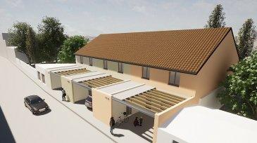 �Maison de ville neuve de 153 m2 avec terrasse, jardin et ga. <br>En exclusivit� ! <br><br><br><br>Nous avons le plaisir de vous pr�senter ce projet de maisons neuves au centre-ville de Pont-�-mousson comprenant : <br><br><br>Au rez-de-chauss�e : <br>- Garage ferm� et places de parking privative (2VL) <br>- Locale poubelle/v�lo/cellier <br>- Buanderie<br>- Cuisine ouverte sur salon s�jour<br><br>- Terrasse de 45 m2<br>- Jardin<br><br><br>� l\'�tage : <br>- 2 chambres vue jardin <br>- 1 Salle de bain (baignoire et douche � l\'italienne) <br>- Toilette s�par�<br>- Chambre parentale avec dressing et salle de bain privative <br><br>Le tout enti�rement neuf, normes de construction r�centes<br><br>Bon � savoir : <br>- Toutes les garanties de constructeurs seront livr�es aux acqu�reurs <br>- Possibilit� de r�pondre � vos demandes de modifications sur plans <br>- Frais de notaires r�duits ! <br>- Possibilit� d\'acqu�rir la maison en 1er et second oeuvre achev� ! <br><br>N\'h�sitez plus et prenez contact avec l\'un de nos collaborateurs afin d\'obtenir plus d\'informations