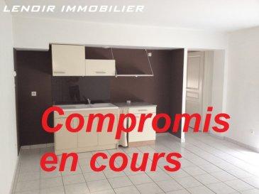 **COMPROMIS EN COURS**  FONTOY,  Idéal investisseur.  Dans un secteur calme, situé au premier étage d\'un immeuble datant de 2007, bel appartement de type F2 de 45m² en très bon état, entièrement carrelé comprenant une cuisine ouverte sur un séjour lumineux, une vaste chambre, une salle de bain avec baignoire, wc séparé. DV PVC.  Deux places de parking en sous-sol complète ce bien.   Vendu loué: 470 euros. (rentabilité : 8,17%)   Honoraires charge vendeur inclus.   Bien en copropriété de 6 lots.  Charges annuelles : 200 euros.   LENOIR IMMOBILIER : Vente, Location, Gestion.  www.lenoir-immobilier.fr