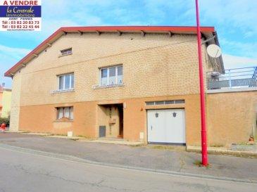 ...............OFFRE EN COURS DE NÉGOCIATION....................               REF 4005 IDÉAL FAMILLE NOMBREUSE.........Exclusivité  Avec de belles possibilités de créations supplémentaires soit 2 chambres en plus ou autres usages ou même un appartement en plus.  Maison accolée d un coté de construction individuelle de 120m²+/-  par niveau + combles aménageables sur dalle béton sur 7.74 ares. Hall d'entrée avec placards distribuant :   en RDC :  pièce buanderie/lingerie,  wc, cellier alimentaire, 2 pièces aménageables en 2 chambres ou autres usages ou même la création d'un appartement. Garage pour 2 vl avec porte électrique et accès grande terrasse sur pavés et jardin.  A l'étage : pièce de vie salon, salle à manger 37m² avec accès terrasse sécurisée et carrelée récemment, cuisine équipée individuelle, wc individuel avec lave mains, salle de bains (douche à l'italienne, baignoire, double vasques équipée, un grand meuble). 3 belles chambres de 13m²+/- à 17m²+/- sur parquet dont 2 avec placards.  En 3ème niveau :  grenier aménageable sur dalle béton. Beau jardin arboré. D.V.  bois avec volets roulants. Chauffage électrique avec fourneau bois en céramique KARLOFF.  La taxe d habitation de 804 euros +/-  La taxe foncière est de 710 euros en 2019   Village à 2 minutes de la zone commerciale du JARNISY. École par regroupement scolaire avec ramassage bus. Collège et lycée à 5 minutes, JARNY.  Médecins, dentiste, kiné, pharmacie, boulangerie à moins de 5 minutes.   Ce bien à retenu votre attention, pour un simple renseignement ou une visite détaillée, contactez ROGER 06.69.18.32.40. ou 03.82.20.83.73. LA CENTRALE IMMOBILIÈRE JARNY ,   RDV de visite possible du LUNDI AU SAMEDI TOUTE LA JOURNÉE.