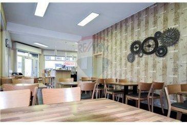 RE/MAX Luxembourg, vous propose à la vente un fonds de commerce avec comme activité : café-restaurant.   Très bien situé, proche d'un centre d'affaires et sans concurrence directe. Le bar-restaurant est convivial et charmera ça clientèles pour ça cuisine International et pour son cadre chaleureux.   -Une cuisine, professionnelle entièrement équipée est à votre disposition.  La salle dispose de la place pour 30 couverts ainsi qu'un emplacement bar pour 10 personnes.   Le bar-restaurant a été entièrement rénové  Le bar-restaurant est idéal pour un couple voulant travailler ensemble.  Le loyer actuel est de 3006,00€  Un chiffre d'affaires positif est à l'appui