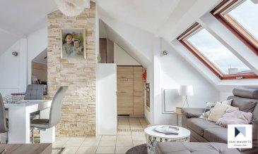 *** SOUS COMPROMIS *** SOUS COMPROMIS *** SOUS COMPROMIS *** Situé à Bonnevoie, quartier dynamique de Luxembourg-Ville, aux 3ème et 4ème étages d'un immeuble bien entretenu, ce duplex d'une surface habitable de± 78m² se présente commesuit:  Au 3ème étage,le hall d'entrée ± 3 m² dessert, en étoile, trois chambres de ± 12, 12 et 14 m², un bureau ± 10 m² et une salle d'eau ± 6 m²; au 4ème étage, un séjour lumineux avec cuisine ouverte ± 18 m².  Au sous-sol, une cave ± 6 m² compète ce bien.   Généralités :  - Appartement idéal pour une famille du fait de sa proximitéavec la gare, le centre-ville, le quartier Cloche d'Or (centre commercial, Lycée Vauban, ...) ; -A proximité de l'aéroport duFindel ; -Transports en commun à proximité; - Charge ± 130€/mois.   Agent responsable du dossier :GeoffreyDepre E-mail :geoffrey@vanmaurits.lu Mobile :(+352) 661 127 777