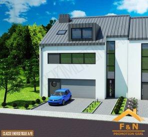 *** NOUVEAU PRIX! *** NEUER PREIS! *** NEW PRICE! ***  F&N Promotion vous propose une nouvelle maison, situé à Reuland, construite dans un style moderne, avec une surface habitable de +-250m2 - 5 min du Junglinster, 15 min du Kirchberg – Luxembourg. (Classe énergétique A/B)  Reuland (commune Heffingen) dispose de toutes les infrastructures nécessaires (crèche, école, foyer de jour, etc.), à proximité de la ville Junglinster, ou vous trouverez toutes commodités nécessaires.  La maison se compose comme suite:  Rez-de-chaussée: -hall d'entrée avec vestiaire (9.40 m2),  -un spacieux living (49 m2) trés lumineux avec une vue et accès vers la terrasse (38 m2) et le jardin -cuisine ouverte,  -WC séparée (1.84 m2),  -bureau (12.00 m2),  -buanderie / cellier (9.85 m2) -un garage pour 2 voitures, et emplacement devant la garage  1ér étage: -spacieux coulouir de 13.80 m2 -chambre à coucher de 22.00 m2, avec salle de bain (6,06 m2) et dressing (4,70 m2) -chambre à coucher de 11.30 m2, avec salle de bain (4.65 m2) et dressing (5.70 m2) -chambre à coucher de 16.54 m2 -chambre à coucher de 13.80 m2 -salle de bain séparée de 6.05 m2  Combles:  aménageable:  -61.90 m2  2m hauteur  -6.42 m2  -local technique (6.17 m2)  Le prix est indiqué avec 3% TVA incluse.  N'hésitez pas, prenez contact avec nous et laissez vous guider pour votre futur projet.  Tél.: +352 621 13 99 88 E-Mail: info@fn-promotion.lu Ref agence: RL-MA01  ------------   F&N Promotion präsentiert Ihnen ein modernes Haus (Neubau), mit einer Wohnfläche von ca. 250 m2, 5 Minunten von Junglinster, und ca. 15 Minuten von Kirchberg-Luxemburg entfernt. (Energieeffizienz- und Wärmeschutzklasse A/B)  Die Gemeinde Heffingen bietet Ihnen jede Annehmlichkeit (Krippe, Schule, Kindertagesstätte, etc.) selbst, sowie auch im naheliegenden Junglinster alle nötigen Dinge welche der Alltag erfordert.  Das Haus beinhaltet: Im Erdgeschoss: -Eingangshalle von 9.42m2 -ein geräumiges, gut belichtetes Wohnzimmer mit Blick und Zugang zur Terrass