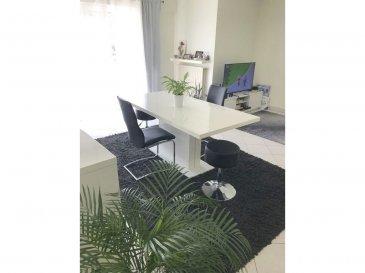 Immo Nordstrooss vous propose un lumineux appartement au rez-de-chaussée d'une résidence  de 1998.  L'appartement se compose comme suite:  - Hall d'entrée, - living avec accès à la terrasse de  /-10 m2,  - Une cuisine équipée séparée,  - deux chambres à coucher - une salle de bain avec WC - Un débarras  - Un emplacement intérieur privatif et une place extérieur avec vignette résidentielle, une buanderie commune, ainsi qu'une cave privative complètent le tous.  pour plus de renseignements veuillez nous contacter au 691 450 317. Ref agence : 453