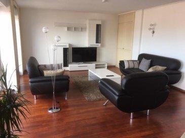 Très bel appartement meublé de 3 chambres à Esch-sur-Alzette Il mesure +/- 133 m2, offre de beaux volumes et est très lumineux  Il se compose comme suit : - un hall d'entrée - 3 chambres avec accès au balcon à l'arrière - un grand séjour avec accès balcon à l'avant - une cuisine équipée ouverte - une salle de bain, avec douche et wc en plus - un placard de rangement - une cave  Il sera disponible au 1er mai 2019 Ref agence :52