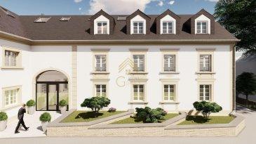 Cet appartement de 156,84m² de surface habitable se situe au 2ième étage et se compose comme suit :   - Hall d'entrée, - Cuisine ouverte sur le living de 46,76m², - Salle à manger de 27,80m², - Débarras, - Terrasse 7,13m², - WC séparé, - Salle de bain, - 3 chambres dont deux avec dressing de (17,78m², 17,05m² et 16,76m²), - Cave.  Prix App N°06 :   - 1.158.631,00.-€ TVA 3% inclus,   - 1.208.631,00.-€ TVA 17% Inclus.  Prix Parking :   - Garage intérieur à partir de 38.000,00.-€ TVA 17% inclus,   - Parking extérieur à partir de 21.000,00.-€ TVA 17% inclus. Venez-vite découvrir ce nouveau projet.  Tous les prix annoncés s'entendent à 3 % TVA, sujet à une autorisation par l'Administration de l'Enregistrement et des Domaines.  Nous restons à votre disposition pour une présentation de l'appartement et du cahier de charges, n'hésitez pas à nous contacter 28.66.39-1 ou bien par mail : info@realgimmo.lu.  Les visites ont repris, et nous sommes heureux de pouvoir à nouveau vous revoir! Notre équipe sera équipée de gants et de masques afin de vous recevoir ou vous faire visiter nos biens en toute sécurité.  Ref agence :73351