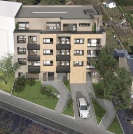 Luxembourg-Muhlenbach   NEWGEST vous propose:  Appartement 2.2 (lot 037) neuf situé au deuxième étage avec une surface habitable de +/- 54.39m2 se composant comme suit: d'un hall d'entrée, d'une chambre à coucher, d'une salle de douche/bain, d'un WC séparé et d'un vaste living avec une cuisine ouverte.  Possibilité d'acquérir un emplacement intérieur à partir de 59.000€/TVA 3% incluse.  Le prix de vente est affiché avec une TVA 3% incluse.   N'hésitez pas de nous contacter au cas d'interêt :   info@newgest ou 691125293