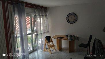 Appartement de 90 m2 comprenant, salon, cuisine, 4 chambres, salle de bains, WC, chauffage au gaz collectif , double vitrage, une cave