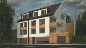 Fis Immobilière a l'honneur de vous présenter deux résidences situés à Luxembourg-Neudorf près de toutes les commodités, commerces, hôpitaux, banques, transports en communs, etc.  La première résidence dispose : -D'un appartement au premier étage de 53m2 dont une terrasse de 5m2 accessible depuis le séjour, une salle de douche et une chambre à coucher.  -D'un duplex de 112m2 au 2eme étage et aux combles disposant de quatre chambres à coucher, un Wc séparé, deux salles de bains, d'un séjour donnant accès sur une belle terrasse de 12m2 et un terrain de + ou  - 60m2.  La deuxième résidence dispose : -D'un appartement au premier étage de 84.50m2 avec un hall d'entrée avec une place pour mettre un vestiaire, deux chambres à coucher, un WC séparé, une salle de bains et un séjour avec accès sur une terrasse de 15m2 et un terrain de 35m2.  --D'un appartement au deuxième étage de 83m2 avec un hall d'entrée avec une place pour mettre un vestiaire, deux chambres à coucher, un WC séparé, une salle de bains et un séjour avec accès sur le balcon de 6m2.  - D'un appartement de 82m2 avec deux chambres à coucher, une salle de bains, un WC séparé, un séjour avec accès sur une belle terrasse de 12m2 et un terrain de +ou- 250 m2.  Possibilité d'acquérir des garages fermés au prix unitaire de 70.000,00 euros.  Les prix affichés sont HTVA. Les surfaces sont à titre indicatif et approximatif.  N'hésitez pas à nous contacter pour tout complément d'information.