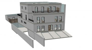 une maison jumelée en cadastre vértical, future construction à basse énergie (AA), et offrant une surface habitable de 260 m2, se compose comme suit:  * Sous-sol: hall, cave, buanderie, chaufferie et double garage intérieur   * Rez-de-chaussée: hall d'entrée, WC séparé, cuisine ouverte avec grand séjour avec accès directe sur la terrasse et jardin, bureau et un emplacement extérieur   * 1er étage: hall de nuit, 3 chambres  avec balcon, salle de douche et salle de bain   * 2ème étage: Une grande suite parentale avec dressing et salle de douche  avec accès sur deux belles terrasses de 13.76m2 et de 8.53m2.   La maison a été conçue pour vous garantir un confort optimal et des espaces de vie de qualité: chauffage par le sol, triple vitrage, volets électriques, ventilation mécanique individuelle, revêtements et finitions de qualité, large terrasse avec jardin et cahier de charges de très haut standing.  Situation calme et ensoleillée à proximités de toutes les commodités quotidiennes.