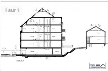 Immocasa vous propose un nouveau projet en construction d'une résidence à 4 appartements de 74 à 88 m2. 2e étage:  Appartement de 88m2 avec 3 chambres, cuisine, double séjour, salle de douche, WC séparé, balcon  Cave privative Inclus dans le prix un emplacement intérieur  PAS D'ASCENSEUR  Livraison Septembre 2019  Nous sommes aussi disponibles pour les visites le samedi selon la disponibilité des propriétaires. Pour de plus amples renseignements, veuillez contacter notre Agence. Pour d'autres annonces non présentés sur ce site, visitez www.immocasa.lu  Nous recherchons en permanence pour la vente et pour la location des appartements, maisons, terrains à bâtir et projets autorisés pour clientèle existante. Achat éventuel par notre société. N'hésitez pas à nous contacter si vous avez un bien ou plusieurs pour la vente. Nos estimations sont gratuites.  Acheter du neuf c'est avoir la garantie et la tranquillité pour des années. Acheter directement au promoteur, c'est avoir des informations claires et la garantie du meilleur prix.    Ref agence :TC1906426