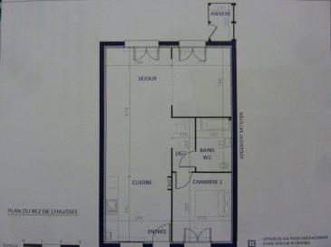 A Piedmont (Mont-Saint-Martin), dans un environnement calme, Nouveau lotissement, proche commodités, Maison Mitoyenne de plain pied avec 2 places de parking, cuisine ouverte sur séjour (48.30m²), 1 chambre (11.20m²), SDB avec w-c (5.20m²), dégagement (1.50m²),  sur 2.06 ares de terrain. Livraison prévue au 1er Trimestre 2022.