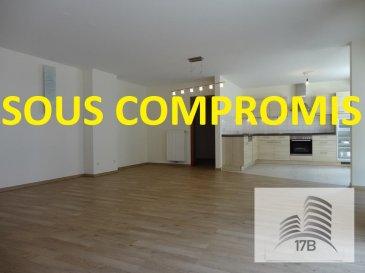 ***** SOUS COMPROMIS *****  Penthouse au deuxième (dernier) étage disposant d'une surface habitable de 105,75 m2 avec une terrasse de 17,30 m2, composé comme suit :  A l'étage : Hall d'entrée avec WC d'hôtes Cuisine équipée ouverte avec accès terrasse Lumineux living/salle à manger avec accès terrasse 1 débarras 2 chambres à coucher dont une avec accès terrasse Salle de bain avec baignoire, douche, lavabo et WC  Au sous-sol : une grande cave, 2 emplacements intérieurs  La buanderie commune se trouve au deuxième étage.  Pour tous renseignements supplémentaires ou pour convenir un rendez-vous pour une visite, veuillez nous contacter au (+352) 691 400 705 ou par mail : info@17b.lu