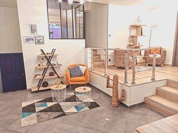 Nouveau et en exclusivité : sympathique LOFT 155 m2 à 10 mn  du centre de  NANCY. Amateurs de grands espaces, je  vous invite à découvrir sans tarder, ce  loft de 155 m2 habitables, entièrement repensé pour votre confort et votre bien être *****  Un espace vie de 75 m 2, de style industriel avec sa verrière et sa belle hauteur sous  plafonds, un accès direct à une terrasse de 18 m2.  une cuisine ouverte, cellier / buanderie, et placard  ****** Ce bien se compose  également de  2 grandes chambres de 19 et 23 m2, d'une suite parentale de 19,50 m2  avec dressing, salle d'eau privative avec  toilettes. Une seconde salle de bain avec douche et baignoire, des toilettes séparées  ****** Un garage de 19 m2 avec porte automatique, communiquant directement avec l'appartement et vient compléter ce bien.  Un second garage de 20 m2 vous est proposé en option ****** La bonne surprise : ZERO CHARGES ! En effet, ce bien totalement indépendant, n'est pas soumis au régime des copropriétés ****** Sur la commune de VANDOEUVRE-LES-NANCY, il est en réalité limitrophe avec NANCY, secteur CLEMENCEAU, NABECOR, Sainte COLETTE, soit à 10 mn du marché central (Bus juste en face)  à 500 m de la ligne N° 1 du TRAM. Vous rejoindrez le Parc des Expositions et l'autoroute en moins 5 mn, via le BD BARTHOU ****** A très bientôt pour une visite  dans le respect des gestes barrières et la distanciation physique. Site Agence : www.tfimmo.com ****** Votre conseiller :  Jean-Luc BARDIN û Agent Commercial (RSAC NANCY 411 191 943) ****** Agence Tf Immo secteur Nancy et Région ******* E-mail : jlb54000.tfimmo@gmail.com ****** Portable : 06-58-45-51-63- barème honoraires : www.tfimmo.com /nos-honoraires.php - Contact : 0658455163 - jlb54000.tfimmo@gmail.com