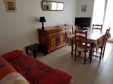 REF 5779   Bel appartement de 33m² plein sud, 1er étage, proximité mer, avec une place de parking:   Séjour/balcon avec cuisine équipée ouverte, salle d\'eau avec wc, chambre avec placard aménagé, charges 33€/m rentabilité assurée loyer prévu 375€   REF 5779 classé E et C