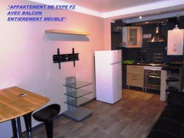 * METZ , APPARTEMENT MEUBLE DE TYPE F2 + BALCON + CAVE A SAISIR *. Idéalement situé, transports en communs en bas de l\' immeuble, A4/A31, commerces à proximité , à saisir rapidement appartement de type F2 situé au 2/2 étages et entièrement meublé : <br/>Cuisine comprenant de l\' électroménager/ chambre à coucher / salon /mobilier de salle de bain..<br/>Idéal pour un premier achat ou à but locatif.<br/>Celui-ci comprend une pièce de vie d\' une surface de 16 m² composée d\' une cuisine donnant accès direct sur un balcon.<br/>Une chambre de 10 m². Le tout bénéficiant de la motorisation des volets.<br/>Une salle d\' eau rénovée, ( douche,wc, meuble vasque et miroir Led ).<br/>Pour compléter ce bien, une cave indépendante et un jardin en commun.<br/><br/>Pour plus d\' informations, merci de me contacter au 06 33 83 40 82, Sandrine Di Francesco  titulaire de la carte professionnelle de la chambre des commerces Siret :78900935400018.<br/><br/>Copropriété de 10 lots (Pas de procédure en cours).<br/>Charges annuelles : 440.00 euros.