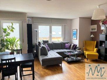 """A Weimerskirch  """"active relocation luxembourg'' vous propose un très spacieux appartement meublé de 2 chambres à Weimerskirch.  Cet appartement situé au deuxième étage d'une petite résidence de 6 appartements comprend: un hall d'entrée, un WC séparé, une cuisine équipée et séparée avec accès vers le balcon de 6m² ainsi qu' un grand living (35m²), une salle de bain avec WC et 2 chambres à coucher (25 + 20m²).  Au sous-sol, vous disposerez  - d'une buanderie commune avec lave-linge et sèche-linge privatifs. - d'un grand garage privatif pour 1 voiture  - avec grande partie servant comme immense cave/stockage  - 2 emplacements extérieur/privatifs devant le garage.  Loyer: 2.150€ Avances sur charges: 325€ Disponibilité: +/- fin juillet (à convenir) Pas d'animaux acceptés Adresse: 102, rue Schetzel, L-2518 Luxembourg-Weimerskirch = ''Zones limitées à 30 km/h''  Weimerskirch : Localisé proche du centre-ville, proche de l'aéroport et du Kirchberg Kirchberg: Centre commercial AUCHAN avec tous ces commerces, différents restaurants, Cinéma, Philharmonie, Coque, E&Y, BEI, Hôpital Kirchberg, proche de l'école européenne et toutes autres commodités à proximité immédiate. Une situation géographique idéale, aires de jeux et forêts à proximité ainsi que les grands axes de transport.  Si vous pensez vendre ou louer votre bien, ''active relocation luxembourg'' est à votre service pour vous conseiller au mieux et vous faire profiter de toutes ses compétences en vue de commercialiser votre bien de manière professionnelle et rapide.  +352 270 485 005 info@arlux.lu www.arluximmo.lu"""