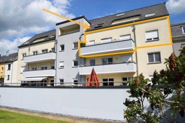 L'agence IMMOLORENA de Pétange a choisi pour vous un appartement à KAYL de 90 m2 au 2ème  avec ascenseur, à proximité des commerces, transports en commun et toutes commodités, il se compose comme suit:  - Un hall d'entrée de 7,41 m2 - Un double living avec placard de 33,60 m2 donnant accès au balcon plein sud sans vis-à-vis de 10 m2 - Une cuisine séparée, toute équipée de 10,50 m2 - Une chambre de 10,20 m2 - Une deuxième chambre de 13,70 m2 - Une salle de bain avec douche de  6 m2 - Un wc séparé de 2 m2   L'appartement dispose également d'une magnifique cave de 8 m2 et d'un emplacement intérieur pour une voiture.  A VOIR ABSOLUMENT!!!!  Pour tout contact: Joanna RICKAL: 621 36 56 40 Vitor Pires: 691 761 110 Kevin Dos Santos: 691 318 013  L'agence Immo Lorena est à votre disposition pour toutes vos recherches ainsi que pour vos transactions LOCATIONS ET VENTES au Luxembourg, en France et en Belgique. Nous sommes également ouverts les samedis de 10h à 19h sans interruption.