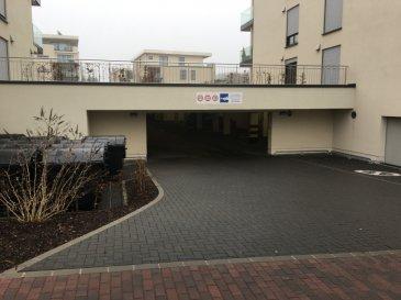 1 emplacement de parking intérieur N°11, avec bon accès, se situant dans un grand parking d'une Résidence récente.  Résidence ''AULNE - An Dietert'' 3B, rue de la Forêt Bertrange-Helfent