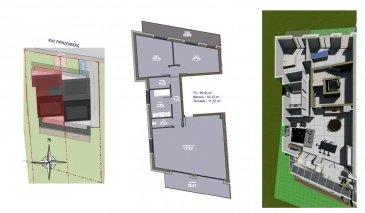 Nouveauté!!! <br>Rue calme à Pétange, situation magnifique et agréable !<br>Résidence de 6 unités<br>Appartement au 1er étage<br>avec 95,03 m2<br>Cuisine / séjour : 45.60 m2  attenants à une terrasse 11.57 m2  ( exceptionnelle )<br>Deux chambres ( 16.19 m2  et  14.68 m2 )<br>1 salle de bain<br>Balcon : 10.33 m2<br>Débarras <br>Wc séparé <br>DEUX emplacements<br>Jardin Privé de 315 m2<br>Apportez vous idées , vos envies afin qu\'elles correspondent au bien de vos rêves!<br><br>Prix : 845250,00€   3% tva <br><br>Pour recevoir les plans et cahier des charges, contactez<br>Emmanuel : 691355050<br>Mail : manuefapromo@gmail.com