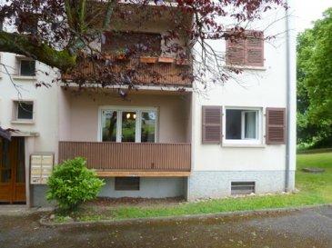 SOUS COMPROMIS DE VENTE  F3 au rdc et au calme -  A saisir !!! Balcon loggia, Garage, grenier, cave       Description :  Surface habitable 78 m2 (Loi carrez 78,02 m2)   Couloir desservant : Cuisine (3 x 2,90m) donnant sur un balcon loggia  (2,70 x 1,13m) 1 séjour SAM (  8 x 3,25 m ) donnant sur un balcon (4 x 1,10m)  2 chambres (11 à 13 m2) 1 SDB  (1,8 x 2,5m) comprenant une baignoire  1 WC séparé  Un garage Grande cave et grand grenier   Diverses indications :  Copropriété des années 60  Chauffage individuel électrique  Fenêtres PVC double vitrage  Charges communes mensuelles environ 75 €   Syndic  bénévole   RDC (pas d'ascenseur dans la copropriété)  L'appartement se situe dans une copropriété comprenant 18 lots                                    dont 6 appartements Diagnostic performance énergétique  F 455 KWH   D 27 KG Taxe foncière 350 €  Libre de toute occupation à la vente   Prix : 95 000 € * NOUVEAU PRIX 79 000 € * (Honoraires d'agence à la charge du vendeur)  (Frais de notaire en sus)  Cet appartement bien qu'habitable de suite mérite une remise au gout du jour avec quelques travaux, il est situé au calme à 3 minutes du centre et de la gare, il peut convenir à un 1er achat ou à un investisseur. La proximité de l'hôpital ''le Neuenberg ''est un plus pour l'offre en location.  La ville d'Ingwiller compte 4200 habitants est facilement accessible par la route, les activités commerciales et artisanales sont très soutenues et variées, la gare SNCF permet de se rendre rapidement à Strasbourg (12 liaisons/ jour environ 30 minutes) La commune se situe dans le parc naturel des Vosges du nord ou la biodiversité de la région lui confère un cadre de vie rural propice à l'évasion.  PHOTOS COMPLÉMENTAIRES SUR DEMANDE   Pierre  Bernhardt   Négociateur indépendant en immobilier  Tel    06 07 47 40 05  Siren: 315571521 Agent mandataire de : Sarl IMGELOC  siège social 17 rue des Romains 67110 Niederbronn les Bains  Siret 50092522700018 Carte Prof. N° 661/2007     Mandat n. 33