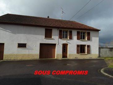 GRANDE FERMETTE LORRAINE DE 160 M2.  SOUS COMPROMIS.......SOUS COMPROMIS...<br> Véritable fermette lorraine individuelle. Cette belle maison avec vue plein champs se situe à 30 km de Metz, 10 km de Rémilly et 7 km de Faulquemont, vous propose ses 160 m2 + nombreuses dépendances + grand jardin avec puits, le tout sur 18 ares 35.<br> Au rez-de-chaussée : salon, salle à manger, cuisine, salle d\'eau et une chambre.<br> A l\'étage : trois chambres + grenier aménageable.<br> Beau potentiel d\'aménagement complémentaire.<br> Un grand garage, une belle cave voûtée, dépendances.<br> PRIX : 118 000 EUR<br> AGENCE VENNER REMILLY 03.87.63.60.09./06.37.62.27.13.<br><br><br><br><br><br>What do you want to do ?<br>New mailCopy<br><br><br><br><br>What do you want to do ?<br>New mailCopy<br><br>