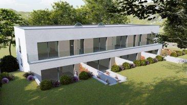 Belardimmo vous propose un projet neuf situé:  Résidence « PLEIN SUD » 37, rue de Blaschette L-7343 LORENTZWEILER  Nouveau projet de construction de 2 maisons bi-familiales à Lorentzweiler, sur un terrain de 10 ares 16 ca, proche de toutes commodités et des grands axes routiers.  Le duplex lot B  mitoyen  a une surface habitable   118m² se compose comme suit :  Au Sous Sol:  Garage commun avec 8 emplacements au total, caves individuelles entre 5,45 m2 et 5,90 m2 / Chaufferie commune / Buanderie commune / Local poubelle commun / Local technique  Au RDC, avec accès sur la terrasse et le jardin :  Salon/salle-à-manger et cuisine ouverte  environ 60m² Hall d'entrée de 1,70 m2 WC séparé de 1,35 m2 Terrasse entre environ 24m² Jardin  environ 50 m2  Au 1er étage, avec accès à un balcon à l'avant et à l'arrière :  Chambre 1 environ 11m² Chambre 2 environ 10m² Chambre 3  avec une salle de bain privative environ 18m² Une salle de bain Balcon à l'avant environ 6m² Balcon à l'arrière environ 6m²   Les travaux débuteront au printemps 2021.  Le prix est avec TVA réduite 3% et 2 emplacements parkings  y sont inclus aussi