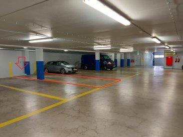Immo Color Sàrl a le plaisir de vous proposer a la location deux emplacements pour 4 véhicule dans un parking souterrain sécurisé, situé dans la rue du Canal à Esch/Alzette.  Attention! les emplacements sont en enfilade 2 x 2 voitures : 4 voitures   Idéal pour sociétés qui ont besoin d'emplacements.  N'hésitez pas à nous contacter pour tout renseignement supplémentaire.  Loyer: 480 euros caution: 480 euros frais d'agence: 561.60