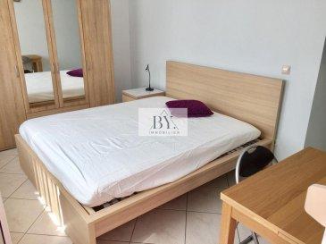 Tempocasa Strassen vous propose cette spacieuse chambre meublé en location.<br>Celle-ci se se situe dans un bel appartement de 3 chambres à coucher, une cuisine indépendante, une salle de douche et une grande terrasse.<br>Deux mois de caution.<br>Pour plus d\'informations contactez nous