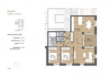 immohub, votre partenaire dans l'immobilier à Michelau vous propose un appartement 2 chambres à coucher au premier étage faisant 90,73 m2 + loggia + cave privative + emplacement intérieur -- 495000 € (TVA 3%) (réf.B3)   Description du bien : Voir plan en annexe.  Date de livraison prévue : fin 2022  ***RESIDENCE MINO***  **SITUATION TRES CALME-OP HARENT**  *12 unités* Contact us : info@immohub.lu  Feel free to make your reservation now.   immohub, votre partenaire dans l'immobilier à Michelau (BOURSCHEID) vous propose à la vente 12 appartements en futur construction, offrant des unités qui varient entre 81.80 m2 & 168.76 m2.  PRIX: 426.679.-€ à 647.362.-€ hors TVA.  Classe d'efficience énergétique : A  Classe d'isolation : B  Classe de performance environnementale : A  Architecture moderne; Etages: 4; Exécution très soignée; Qualité 'haut de gamme' avec entre autres une pompe à chaleur, chauffage au sol, volets électriques, volets roulants électriques.   MICHELAU :  Château de Bourscheid—5 minutes  Diekrich— 10 minutes  Ettelbruck— 15 minutes  Mersch— 20 minutes  Luxembourg / Kirchberg -- 30 minutes en voiture  La gare de Michelau se trouve à 5 minutes à pied de la future résidence.A vendre magnifique appartement deux chambres à Michelau.