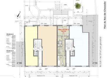 Votre agence IMMO LORENA de Pétange vous propose dans une résidence contemporaine en future construction de 8 unités sur 3 niveaux située à Pétange, 110, route de Luxembourg, Un duplex renversé de 95.15 m2 décomposé de la façon suivante:  RDCH: - Un hall de nuit - Une chambre de 13,86 m2 donnant accès a la terrasse de 19,33 m2 - Deuxième chambre de 10,02 m2 - Un coin de rangement de 1,30 m2 - Un WC séparé de 1,39 m2 - Salle de douche de 3,34 m2  PREMIER ETAGE: - Hall d'entrée  - Une  cuisine séparée de 15,86 m2 - Un WC séparé de 1,39 m2 - Un salon de 18,14 m2 donnant accès a la terrasse de 6,25 m2   - Une cave privative, un emplacement pour lave-linge et sèche-linge au sous sol. Possibilité d'acquérir un emplacement intérieur (28.840 €)TTC 3%  Cette résidence de performance énergétique AA construite selon les règles de l'art associe une qualité de haut standing à une construction traditionnelle luxembourgeoise, châssis en PVC triple vitrage, ventilation double flux, chauffage au sol, video - parlophone, etc... Avec des pièces de vie aux beaux volumes et lumineuses grâce à de belles baies vitrées.  Ces biens constituent entres autre de par leur situation, un excellent investissement. Le prix comprend les garanties biennales et décennales et une TVA à 3%. Livraison prévue juin 2022.  1,5% du prix de vente à la charge de la partie venderesse + 17% TVA Pas de frais pour le futur acquéreur  À VOIR ABSOLUMENT!  Pour tout contact: Joanna RICKAL: 621 36 56 40  Vitor Pires: 691 761 110  Kevin Dos Santos: 691 318 013  L'agence Immo Lorena est à votre disposition pour toutes vos recherches ainsi que pour vos transactions LOCATIONS ET VENTES au Luxembourg, en France et en Belgique. Nous sommes également ouverts les samedis de 10h à 19h sans interruption.