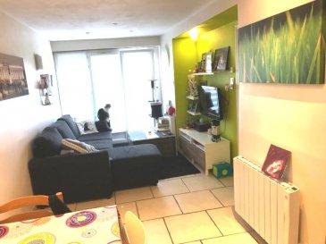 Appartement F3.  Bel appartement secteur calme, comprenant: Piéce à vivre, cuisine équipée, 2 chambres, salle de bain, WC. Jardin et Cave.