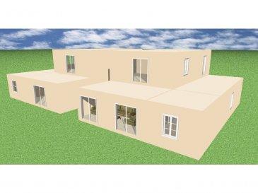Beau terrain (5 ares) plat avec contrat de construction pour une maison bi-familiale. Situation calme et agréable.  Le prix comprend le terrain avec la construction.