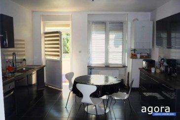 ALGRANGE F5 rd jardin véranda garages cave<br /><br />Laissez-vous séduire par ce spacieux rd jardin <br /> F5 de 140 m² offrant une vaste entrée pour 13 m², 1 cuisine équipée de 17m² ouvrant vers la véranda de 10 m² et allant ensuite vers le jardin de 128 m², un salon - séjour pour 35 m², une suite parentale pour 16 m², 2 belles chambres de 15 m² et une grande salle de bains offrant baignoire lavabo meuble, wc.<br /><br /> Belle rénovation alliant le moderne à l'ancien par ses parquets massifs, sa hauteur sous plafond '.<br />Mais également un garage de 69 m² pouvant recevoir 4 voitures, et une cave de 5 m²,<br />Chauffage central gaz, DV pvc, <br />Située au calme dans une petite copropriété, offrant des vues ouvertes. <br /><br />Belle opportunité à 195 000 '<br />A propos de la copropriété : Charges mensuelles 21 ' -<br />4 appartements<br />DPE : D <br /><br />Honoraires à la charge du vendeur<br />Agora Thionville : 03 82 54 77 77