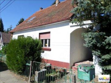 LEMBERG,<br /><br />Maison à rénover, d\'une surface habitable de 115 m², composée de 3 chambres, SDB, salon, salle à manger, cuisine, sous sol et garage, sur terrain de 1025 m²&period;<br />Bon potentiel après rénovation&period;<br /><br /><br />Contact Nord Sud Immobilier à <br />Nord Sud Rohrbach:          03 87 96 33 84<br />Nord Sud Bitche      :          03 87 27 01 80<br />Nord Sud Sarreguemines: 03 87 02 83 36